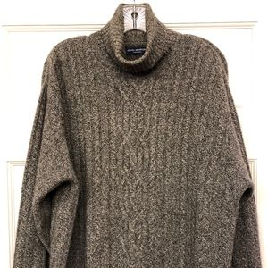 John Ashford Cashmere Turtleneck Cable Sweater